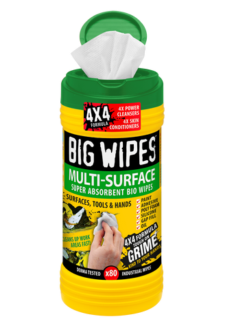 Multi-Surface Big Wipes in 80 count canister
