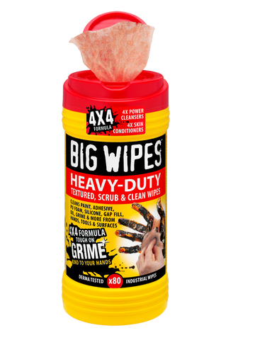 Heavy Duty Big Wipes in 80 count canister