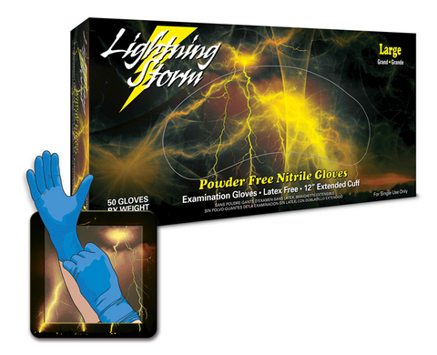 Lightning Storm Extended Cuff, Nitrile, 50 ct. Box