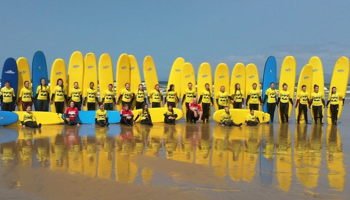 Group Surf Lessons. Groups. Corporate Surf Days Out. Surf stag & hen parties. Birthday parties.