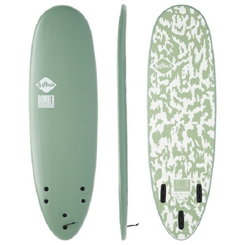 Softech 6'4 Bomber Performance Shortboard (Green/White)