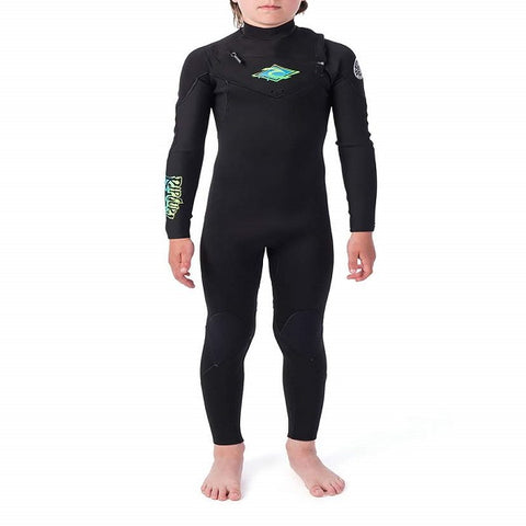 Junior Rip Curl Dawn Patrol 5/3mm Chest Zip Wetsuit 2020 - Black
