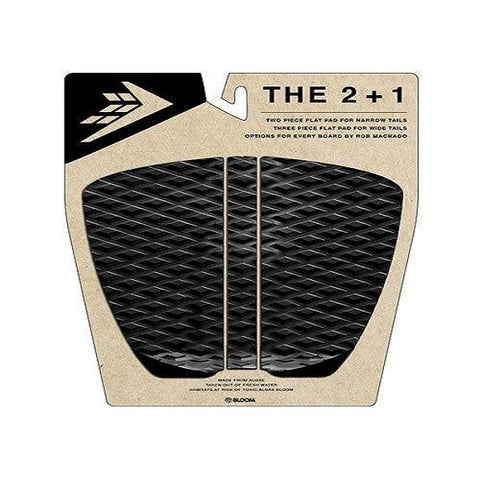 Firewire 2 + 1 Flat Traction Tail Pad - Black/Charcoal