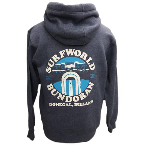 Surfworld Peak Heavyweight Hoodie (W89PF) - NAVY MELANGE
