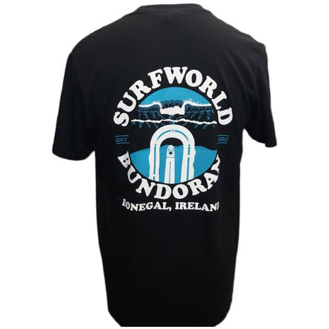 Mens Surfworld Peak T-Shirt (GD01) - BLACK