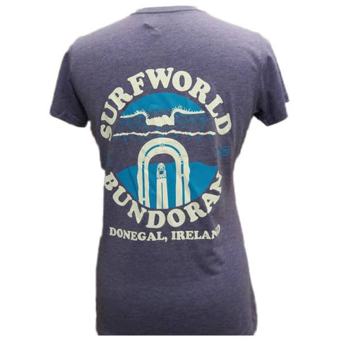 Ladies Surfworld Peak T-Shirt (SWLPT02) - PURPLE MARL