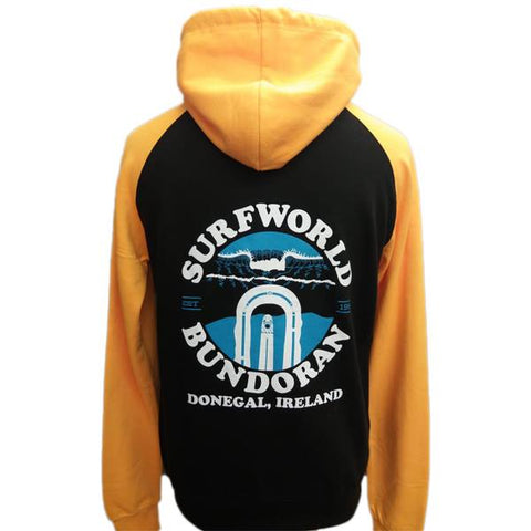 Surfworld Peak Hoodie (JH009) - JET BLACK/ GOLD