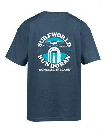 Junior Surfworld Peak T-Shirt 2017 (SWJPT01) - INDIGO