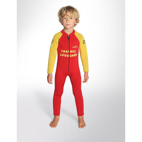 C-Skins Baby Steamer Wetsuit 2018 (C-BA32ST) - RED TRAINEE