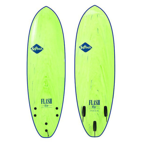 Softech 5'7  Flash Eric Geiselman Performance Softboard (Green)