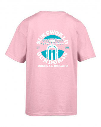 Junior Surfworld Peak T-Shirt (SWJPT01) - LIGHT PINK