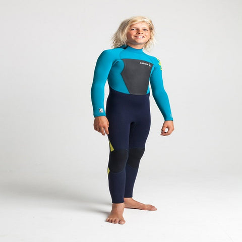 C-Skins Legend Junior 5/4mm Back Zip Wetsuit 2020 - Slate/Teal