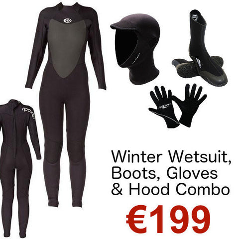Ladies Winter Wetsuit, Boots, Gloves & Hood Deal 2017