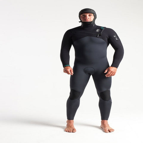 C-Skins Rewired Mens 5/4mm hooded Chest Entry Wetsuit 2019/20 - BLACK