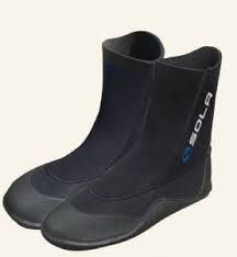 Sola 5mm Adult Round Toe Wetsuit Boots 2019 - BLACK