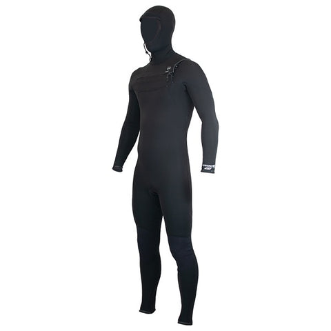 Alder Evo Torch Hooded Mens 5/4mm Chest Entry Wetsuit 2020 - BLACK