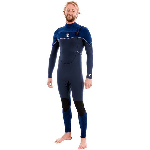 Alder Torch Storm Mens 4/3mm Chest Entry Wetsuit 2019 (WA19ATSTORM-BL) - NAVY BLUE