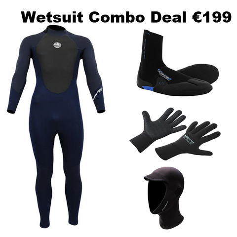Wetsuit, Boots, Gloves & Hood Combo