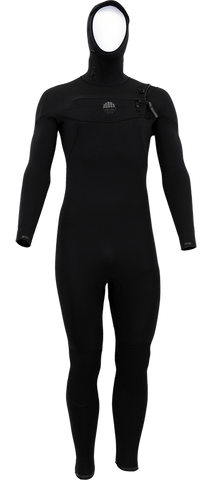 Alder Evo Fire Hooded Mens 6/5/4mm Chest Entry Wetsuit 2019 (WW18AEH-BL) - BLACK
