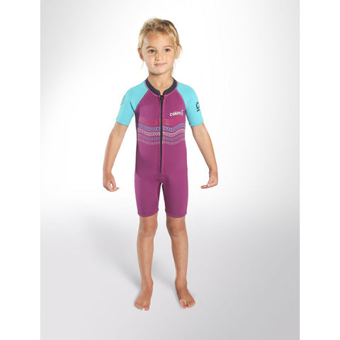 C-Skins Baby Waves Shortie Wetsuit 2018 (C-BA32SHP) - VIOLET