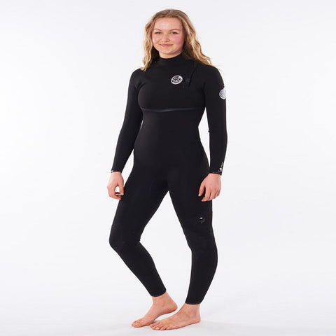 Rip Curl E-Bomb Ladies 5/3mm Zip-Free Wetsuit 2021 (WSMYJG) - BLACK