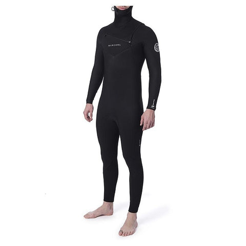Ripcurl Dawn Patrol Mens 5/4mm Chest Entry Hooded Wetsuit (WSM7SM) 2021  - BLACK