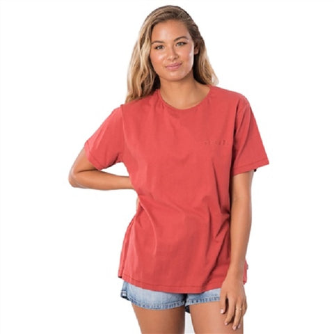 Ripcurls Womens 'The keep searching tee'  Rust