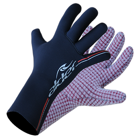 Alder Spirit 4mm Fast Dry Lined Junior Wetsuit Gloves 2016 (WAG21J) - BLACK