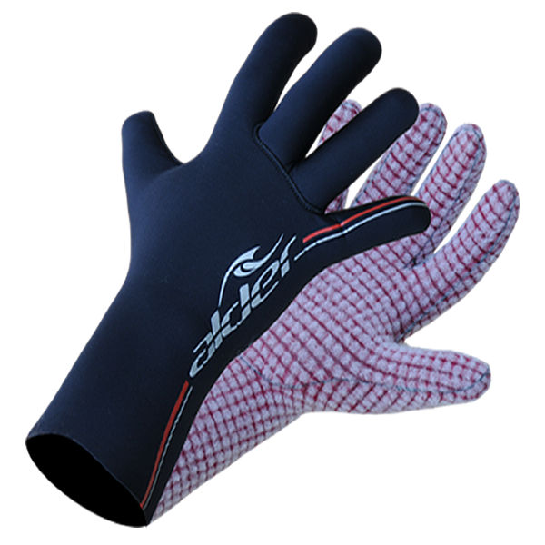 Alder Spirit 4mm Fast Dry Lined Adult Wetsuit Gloves 2016 (WAG21) - BLACK