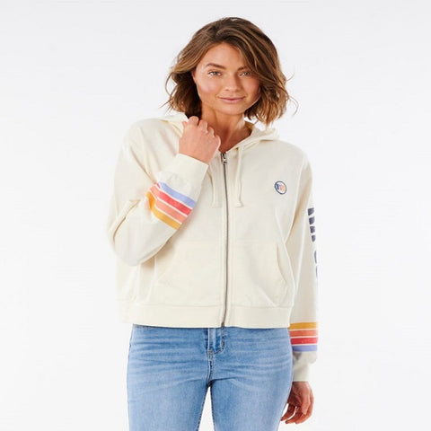 Ladies Rip Curl Golden State Zip Up - Bone