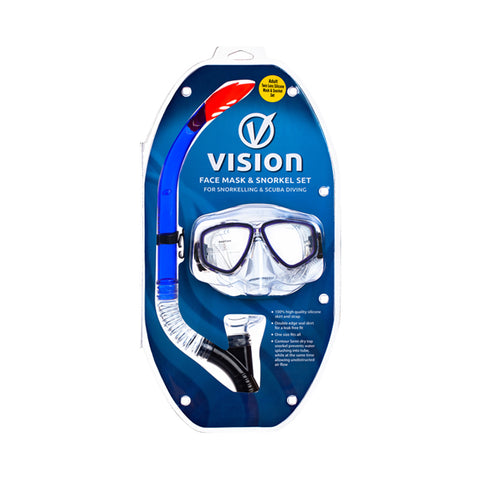 Vision Adult Silicone PVC Snorkel & Mask Set
