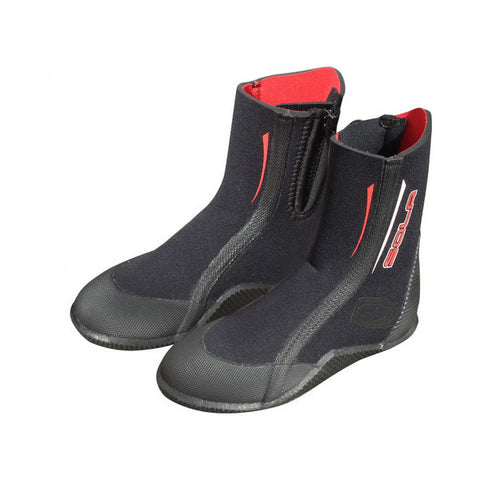 Sola 5mm Junior Wetsuit Zip Boots 2016 - BLACK