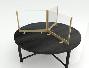Premium Table Barrier Round Table Three Barriers