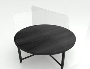 Premium Table Barrier on Round Table