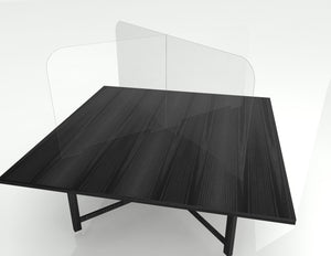 Premium Table Barrier on Square Table