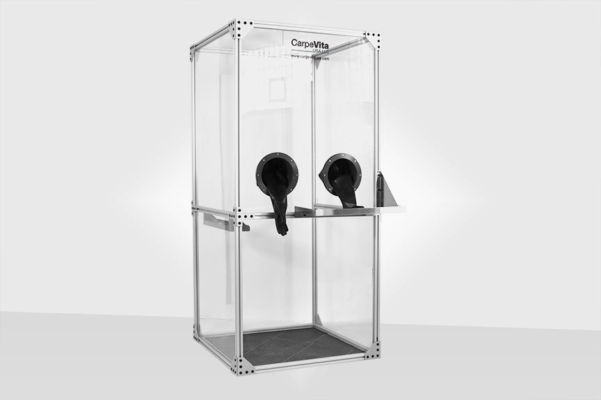 Protective testing booth to provide safe interaction between medical professionals and patients