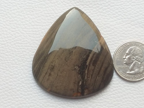 54x47x6 mm, Natural  New Jasper Teardrop / Pear Shape