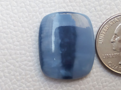 26x21x5 mm Blue Opal Rectangular Shape