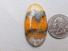Load image into Gallery viewer, 42x22x5 mm Natural Bumble Bee Jasper Oval Shape