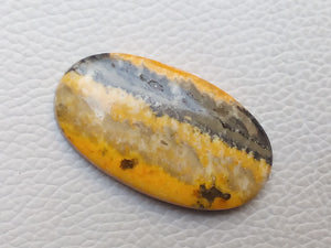 42x24x6 mm Natural Bumble Bee Jasper Oval Shape