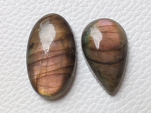 Load image into Gallery viewer, 2 Pcs Lot Natural Gemstone Labradorite Cabochon Mix Shape
