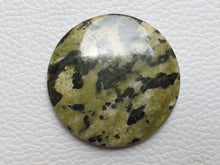 Load image into Gallery viewer, 38~38~6mm Green Jasper Round Shape