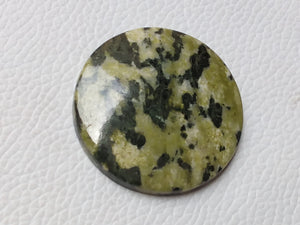 38~38~6mm Green Jasper Round Shape