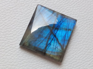 33x31x8mm, Natural Gemstone, Blue Labradorite Cabochon Cushion Shape
