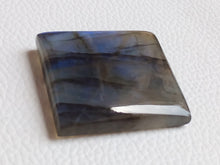 Load image into Gallery viewer, 33x31x8mm, Natural Gemstone, Blue Labradorite Cabochon Cushion Shape