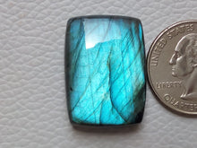 Load image into Gallery viewer, 28x21x8mm, Natural Gemstone, Blue Labradorite Cabochon Rectangular Shape