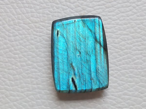 28x21x8mm, Natural Gemstone, Blue Labradorite Cabochon Rectangular Shape