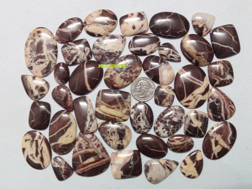 Natural Coconut Jasper Cabochon Gemstone