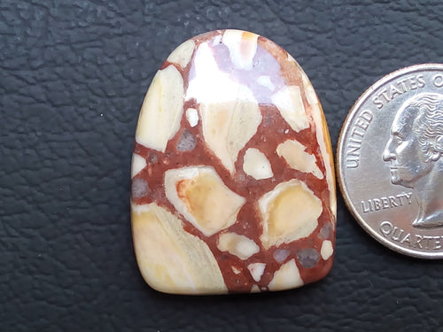32x25x5 mm Natural Gemstone Jasper Freeform Shape
