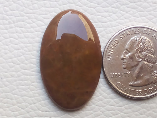 32x20x4 mm, Natural Honey Agate Cabochon  Oval Shape